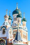 Ditail of Russian Orthodox Cathedral in Nice. France Royalty Free Stock Photography