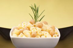 Ditalini with chickpea Royalty Free Stock Photography