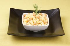 Ditalini with chickpea Royalty Free Stock Photos