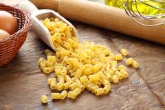 Ditalini - Italian raw pasta Royalty Free Stock Image