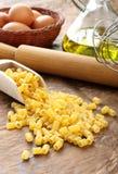 Ditalini - Italian raw pasta Stock Image