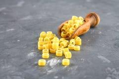 Ditalini macaroni. Pasta rings. Tubettini and thimbles. Anellini. Royalty Free Stock Photos