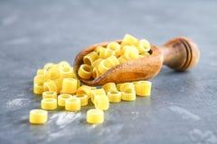 Ditalini macaroni. Pasta rings. Tubettini and thimbles. Anellini. Royalty Free Stock Image