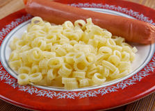Ditalini with sausage Royalty Free Stock Photography