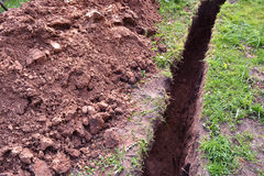 Ditch in the ground Royalty Free Stock Images
