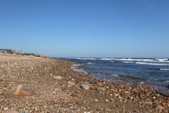 Montuak. Ditch Plains beach in Montauk on Stock Image