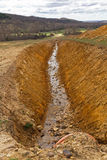 Ditch to Channel Water Royalty Free Stock Photo