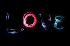 Dites-la avec la lumière : Amour Photos libres de droits