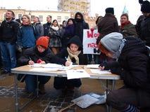 Dites le numéro à l'ACTA, Lublin, Pologne Images stock