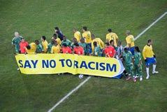 Dites le numéro au racisme - la FIFA Motta Image libre de droits