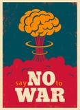Dites non à la guerre illustration libre de droits