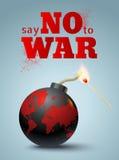 Dites non à la guerre illustration stock