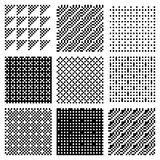 Dither Patterns. Seamless textures from monochrome rendered dither patterns royalty free illustration