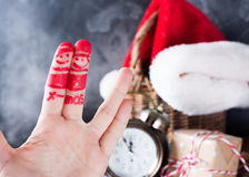Dito Art Friends Celebrates Christmas Concept Fotografie Stock Libere da Diritti