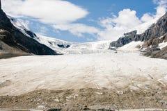 Dito del piede del ghiacciaio di Athabasca, Jasper National Park, Alberta, Canada Immagine Stock