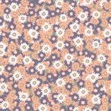Ditsy Daisy Floral Vector Pattern Hand disegnata illustrazione vettoriale