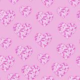 Ditsy floral del corazón Imagen de archivo