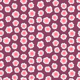 Ditsy floral pattern with small pink flowers Stock Photos