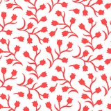 Ditsy floral pattern with small red tulips Royalty Free Stock Photo