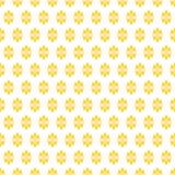 Ditsy floresce a textura dourada sem emenda Imagem de Stock