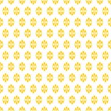 Ditsy Flowers Seamless Golden Texture Stock Image