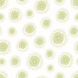 Ditsy modell för vektor med små blommor på en vit bakgrund Arkivfoto