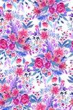 Ditsy-Muster mit Rosen Stockfotos
