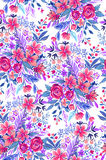 Ditsy pattern with roses. Stock Photos