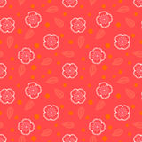 Ditsy pattern with small white sakura flowers Stock Photos