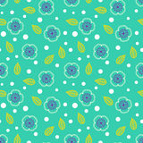 Ditsy pattern with small white sakura flowers stock illustration