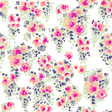 Ditsy watercolor flowers Royalty Free Stock Image