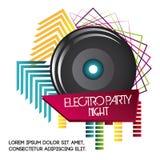 ditt för högtalare för designelementsymbol stads- Electro partidesign som stylized swirlvektorn för bakgrund det dekorativa diagr royaltyfri illustrationer
