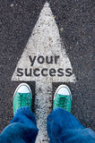 Ditt framgångtecken Arkivbild