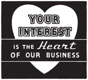 Ditt intresse stock illustrationer