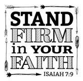 Ditta del supporto nella vostra fede Immagini Stock