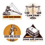 Ditta ed ufficio legali Logo Set Fotografia Stock Libera da Diritti