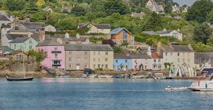 Dittisham-Dorf auf dem Fluss-Pfeil in Nord-Devon lizenzfreies stockfoto