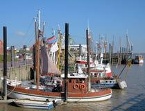 Ditzum östliga Frisia, Nordsjö, lägre saxony, Tyskland arkivbilder