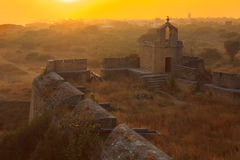 Diu fort at sunset Stock Photo