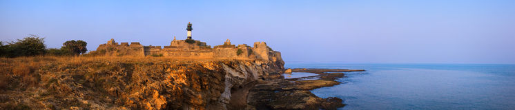 Diu fort at sunset Royalty Free Stock Photography