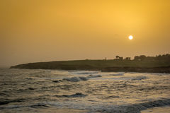 Diu Sunset. Sunset at Diu/India near Nagoa Beach Royalty Free Stock Photography