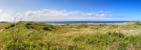 Diuny i Północny morze na Juist Zdjęcie Stock