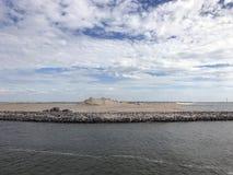 Diuny przy markierem Wadden, sztuczny archipelag w rozwoju lokalizować w Markermeer zdjęcia royalty free