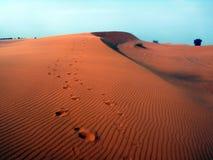 Diuny w erga Chebbi pustyni Obrazy Royalty Free