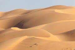 Diuny w Pustej ćwiartki pustyni Fotografia Royalty Free