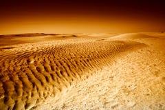 Diuny w Sahara czarny i biały Obrazy Royalty Free