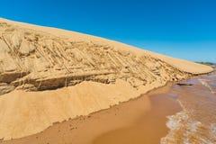 Diuny wyspa «Las Dunas De San Cosme y Damian «po środku Rio Parana blisko miasta Encarnacion zdjęcia stock