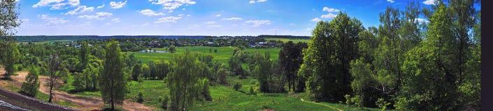 Diutkovo village panorama Stock Images