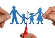Divórcio chain de papel da família Imagem de Stock