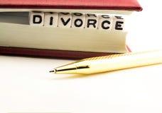 Divórcio como um símbolo imagens de stock royalty free
